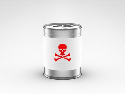 lattina di cibo per animali tossico