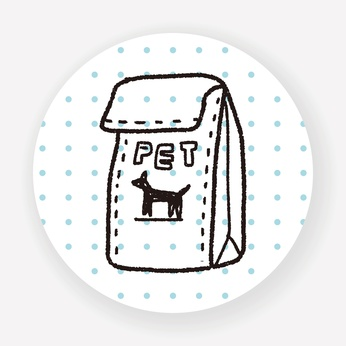 sacchetto di cibo secco