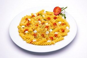 pasta rich with carbs