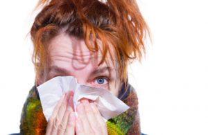donna con infezione