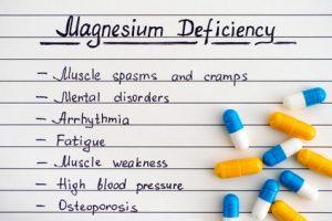 Sintomi di carenza di magnesio